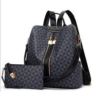 Handbags - Ladies Fashion Backpack Purse Set